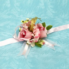 Charming Free-Form Satin Wrist Corsage