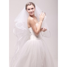 Four-tier Ribbon Edge Waltz Bridal Veils
