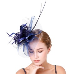 Ladies' Elegant Feather/Net Yarn With Feather Fascinators/Kentucky Derby Hats/Tea Party Hats
