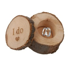 """I do""/Shabby Rustic Ring Box in Wood (Set of 3) (103103582)"