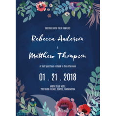 Floral Merriment Wedding Cards