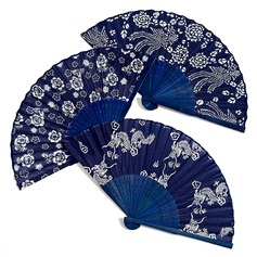Floral Design Bamboo/Silk Hand fan  (051040144)