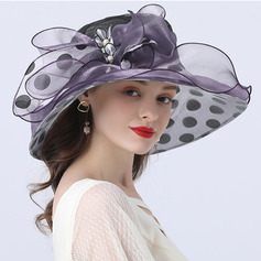 Ladies' Hottest/Romantic Organza With Imitation Pearls Beach/Sun Hats/Tea Party Hats