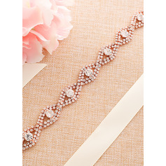 Exquisite Satin Sash With Alloy/Rhinestones