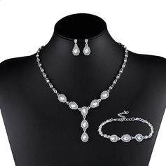 Shining Alloy With Rhinestone Women's Jewelry Sets (Set of 3)