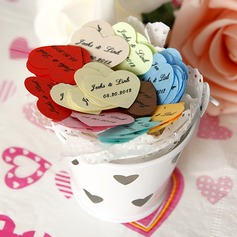 Personalized Heart Shaped Little Petals Paper Confetti