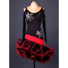 Women's Dancewear Spandex Organza Latin Dance Leotards
