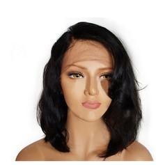 4A Non remy Wavy Human Hair Lace Front Wigs (Sold in a single piece) 120g
