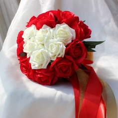 Special Free-Form Satin/Artificial Silk Bridal Bouquets -
