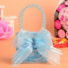 Classic Handbag shaped Nonwoven Fabric Favor Bags With Ribbons