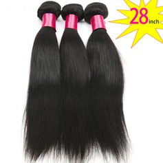 28 inch 8A Grade Brazilian Straight Virgin human Hair weft(1 Bundle 100g)