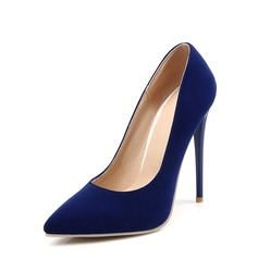 Women's Suede Stiletto Heel Pumps Closed Toe With Others shoes (085128304)