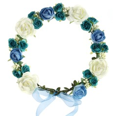 Rose Ribbon Headdress Flower