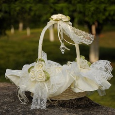 Flower Basket in Cloth With Lace/Flower (102169050)