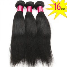16 inch 8A Grade Brazilian Straight Virgin human Hair weft(1 Bundle 100g)
