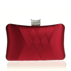 Elegant Satin Clutches/Wristlets/Satchel/Bridal Purse