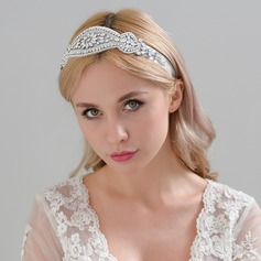 Ladies Exquisite Satin Headbands With Rhinestone (Sold in single piece)