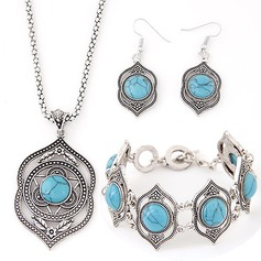 Beautiful Alloy Imitation Turquoise Ladies' Jewelry Sets