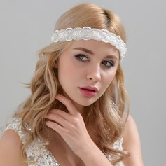 Ladies Classic Satin Headbands With Venetian Pearl (Sold in single piece)
