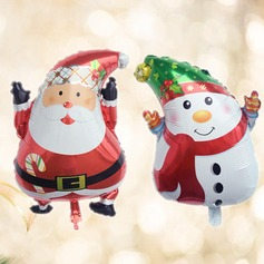 2pcs/set - 18inch Santa Claus and Snowman Foil Balloons Christmas Party Decoration