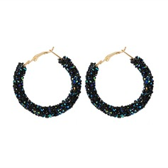 Classic Alloy Rhinestones With Rhinestone Women's Fashion Earrings (Sold in a single piece)