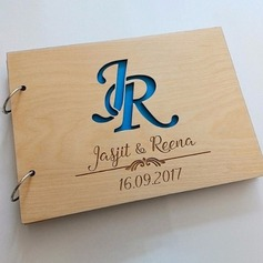 Personalized design Wood Guestbook (101188103)