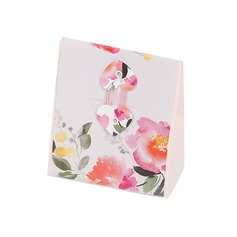 Flower Design Cuboid Favor Boxes