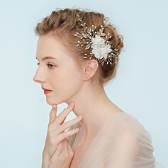 Ladies Fancy Alloy Headbands With Rhinestone/Venetian Pearl (Sold in single piece)