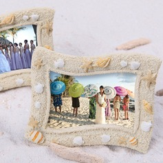 Seaside' Sand and Shell Place card Holder
