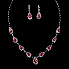 Unique Alloy/Crystal Ladies' Jewelry Sets