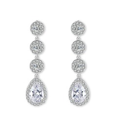 Unique Alliage/Zircon de Dames Boucles d'oreilles