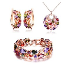 Shining Zircon Copper Women's Jewelry Sets