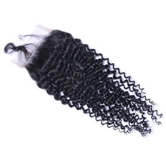 5A Virgin/remy Kinky Curly Human Hair Closure (Sold in a single piece) 40g