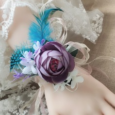Round Satin Flower Sets (set of 2) - Wrist Corsage/Boutonniere
