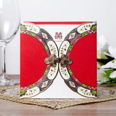 Asiatisk stil Wrap & Pocket Invitation Cards