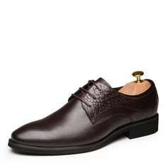 Men's Real Leather Lace-up Derbies Dress Shoes Men's Oxfords