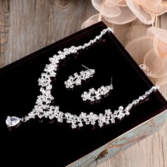Beautiful Alloy/Zircon Ladies' Jewelry Sets