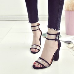 Women's Plastics Chunky Heel Sandals shoes