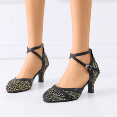 Women's Suede Sandals Latin Modern Ballroom With Buckle Dance Shoes
