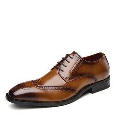 Men's Real Leather Brogue Casual Dress Shoes Men's Oxfords