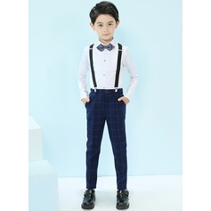 Boys 4 Pieces Elegant Ring Bearer Suits /Page Boy Suits With Shirt Pants Bow Tie Suspender (287203039)