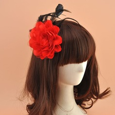 Ladies' Vintage Organza With Silk Flower Fascinators