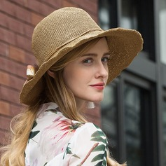 Ladies' Pretty Polyester With Flower Floppy Hat