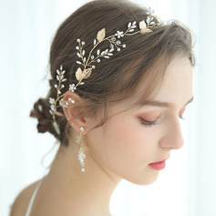 Ladies Gorgeous Alloy Headbands With Rhinestone/Venetian Pearl
