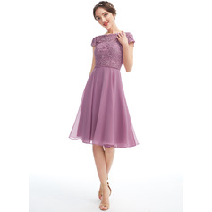 A-Line Scoop Neck Floor-Length Cocktail Dress