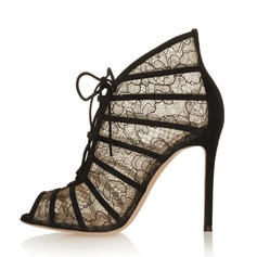 Women's Lace Stiletto Heel Sandals Peep Toe shoes (087086311)