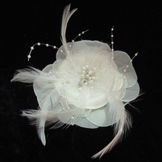 Ladies' Glamourous Feather/Imitation Pearls/Chiffon Fascinators