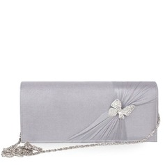 Fashional Silk With Rhinestone Clutches (012010424)