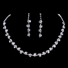 Flower Shaped Alloy/Rhinestones Ladies' Jewelry Sets