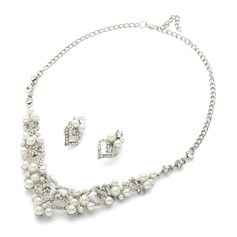 Sweet Heart Alloy/Pearl/Rhinestones Ladies' Jewelry Sets
